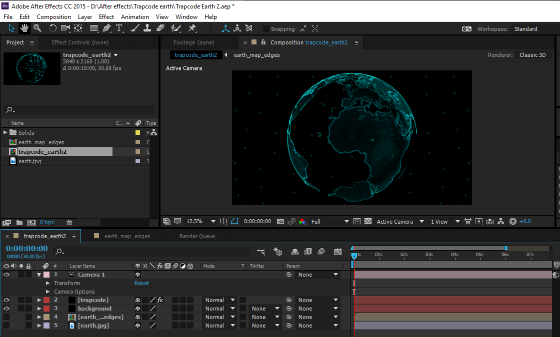 4K footage rendered and exported from Adobe After Effects CC
