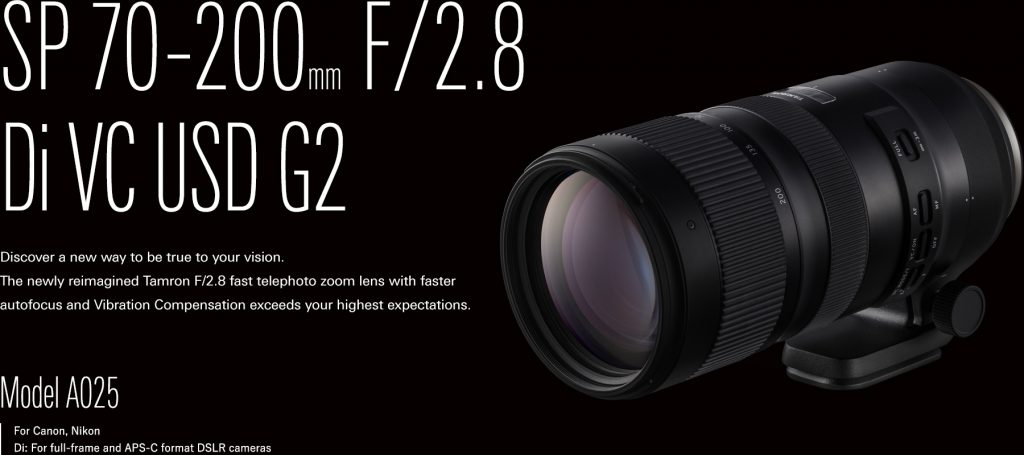 TAMRON SP 70-200 mm Di VS USD G2