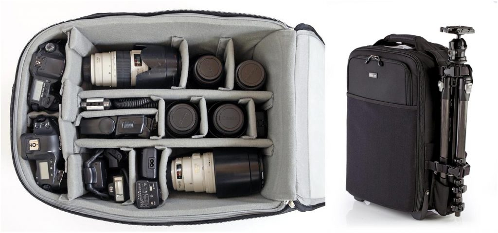 Camera equipment in the bag